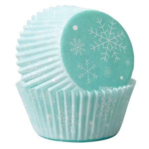 Caissette Cupcake Flocons Neige Wilton (x75)