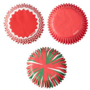 Caissette Cupcake Couleurs Noël Wilton (x75)