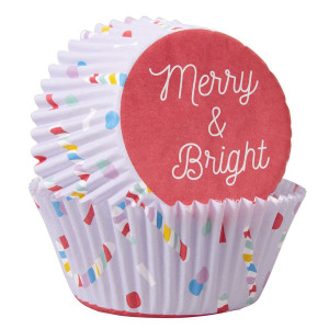 Caissette Cupcake Merry & Bright Wilton (x75)