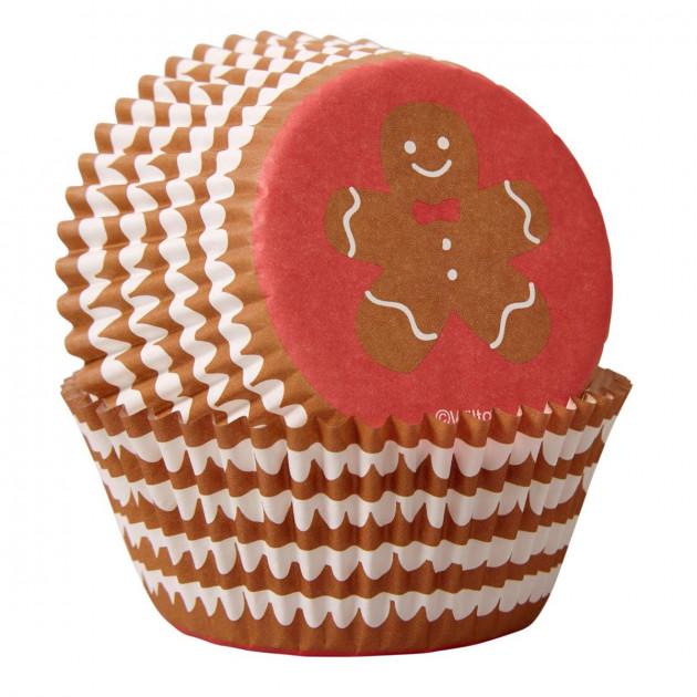 Caissette Cupcake Bonhomme Noël Wilton (x75)