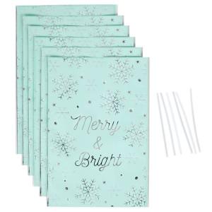 Sachet Confiserie Noël Merry & Bright 16x24 cm (x6)