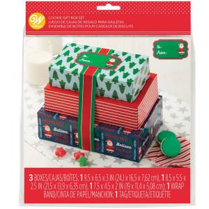 Boîtes Confiserie Noël Carton 20 x25 cm (x3)