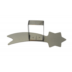 Poussoir Etoile Filante inox 135 x 49 mm - Gobel