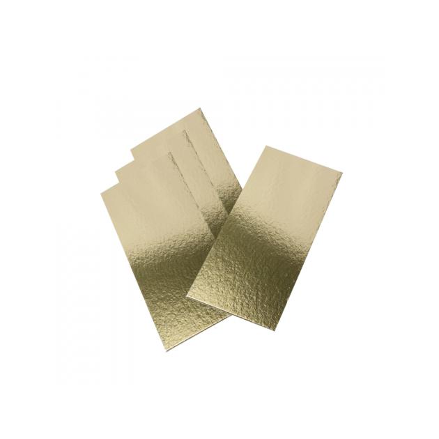 Semelle à Bûche 60x10cm Or Bords Droits (x50)