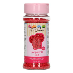 Mini-billes Rouge 80g Funcakes