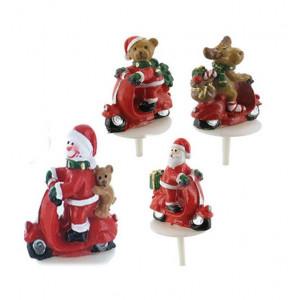 Sujets de Noël en Scooter Sujet Résine x50