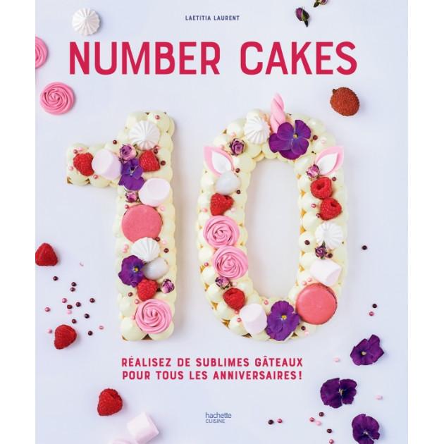 Livre de Recettes Number Cakes Hachette