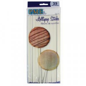 Bâtons Sucettes en Papier Rigide 20 cm PME (x25)