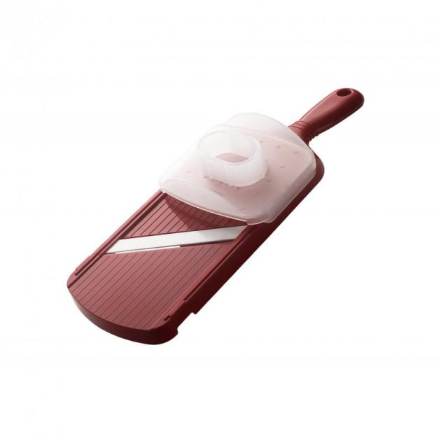 Mandoline Reglable Lame Ceramique avec Protege Doigts Kyocera Rouge