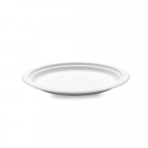 Assiette biodégradable ronde en Canne à sucre Ø15,5 cm (x50) Crokus