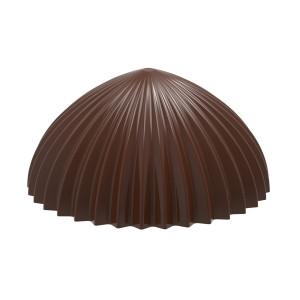 Moule Chocolat Demi Sphère Plissée 30,5 mm (x21) Chocolate World
