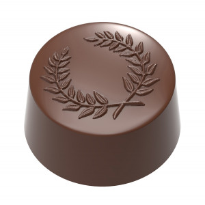 Moule Chocolat Praline Ronde Laurier 31 mm (x21) Chocolate World
