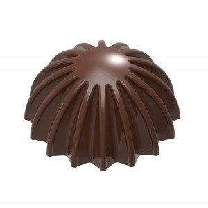 Moule Chocolat Demi Sphère Plissée 28 mm (x21) Chocolate World
