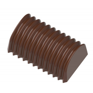 Moule Chocolat Bûche Plissée 35,5 mm (x24) Chocolate World
