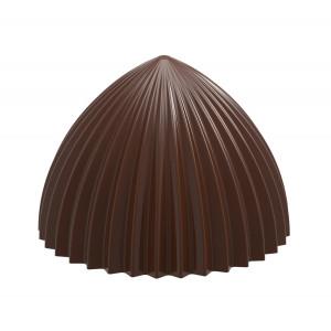 Moule Chocolat Demi Sphère Plissée 46,5 mm (x10) Chocolate World