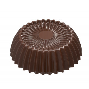 Moule Chocolat Praline Plissée Evasée 30,5 mm (x21) Chocolate World