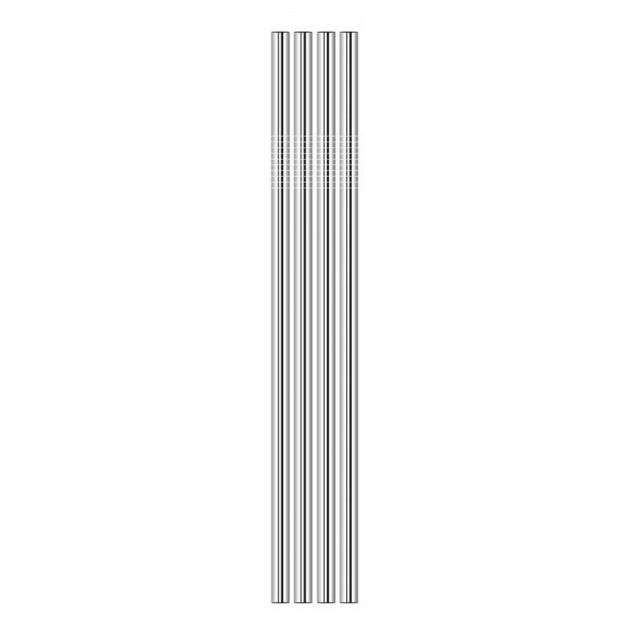 Paille en Inox Droite 21,5cm x4 Lebrun