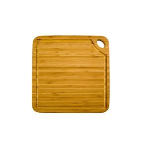 Planche à Découper Carrée Greenlite avec Rigole 27,5 x 27,5 cm Totally Bamboo