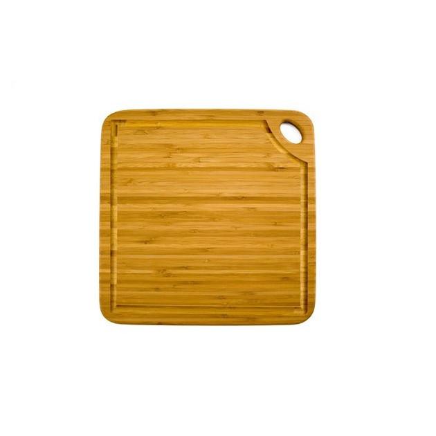 Planche a Decouper Carree Greenlite avec Rigole 27.5 x 27.5 cm Totally Bamboo