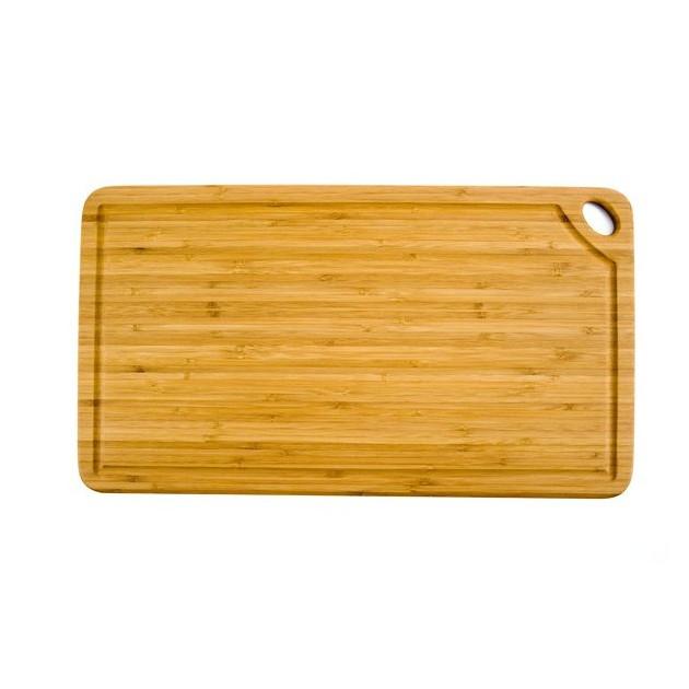FIN DE SERIE Planche a Decouper Rectangulaire Greenlite avec Rigole 50 x 27.5 cm Totally Bamboo
