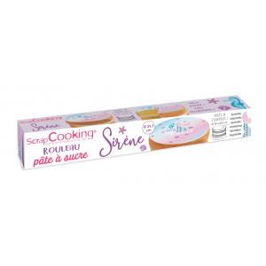 Pâte à Sucre Sirène en Rouleau ⌀ 29,5 cm 150g Scrapcooking