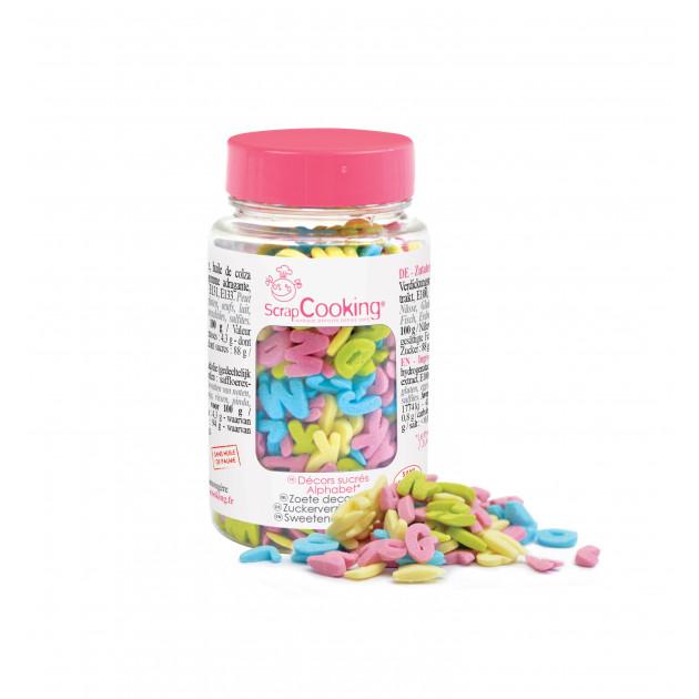Décors en sucre Alphabet 55g Scrapcooking