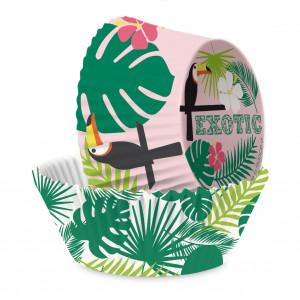 Caissette Cupcake Tropical x36 ⌀ 5 cm Scrapcooking