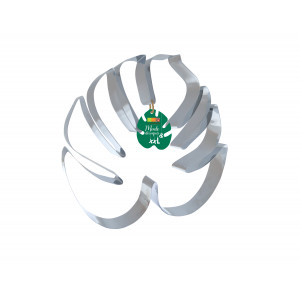 Cercle à Pâtisserie Inox Feuille Tropicale XXL 30 x 26 cm Scrapcooking