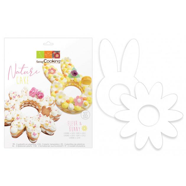 Kit Flower Cake et Bunny Cake Scpracooking