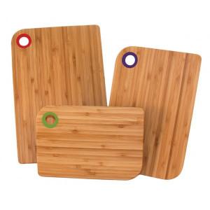 Set de 3 Planches à Découper avec Patins antidérapants Totally Bamboo