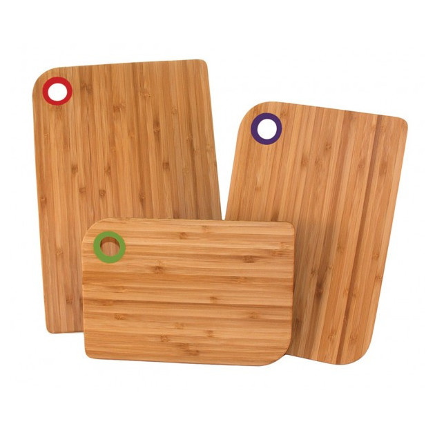 Set de 3 Planches a Decouper avec Patins antiderapants Totally Bamboo