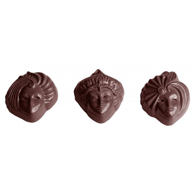 Moule Chocolat Venise Masque 39 mm (x18) Chocolate World