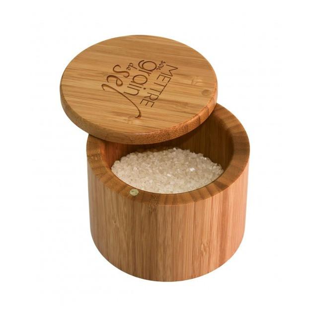 Boîte a Sel Magnetique en Bambou Totally Bamboo