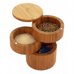 Boîte à sel/épices Magnétique 3 Niveaux Totally Bamboo