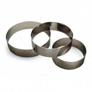 Cercle à Vacherin Inox 12 cm x H 6 cm Gobel