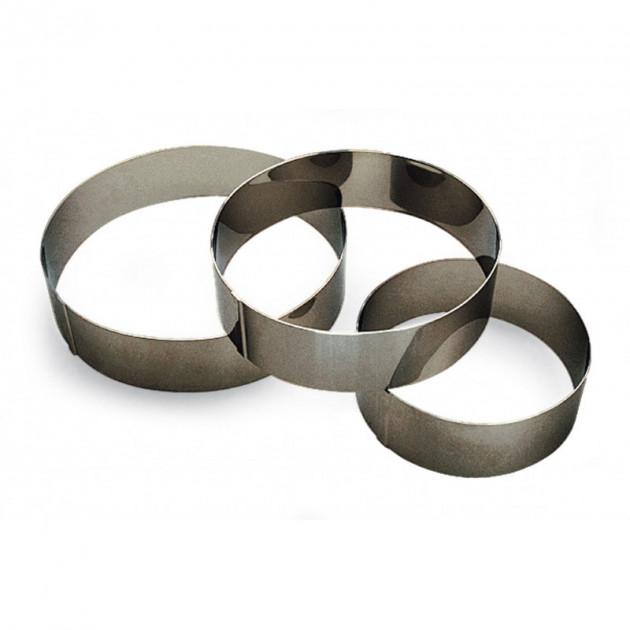 Cercle a Vacherin Inox 12 cm x H 6 cm Gobel