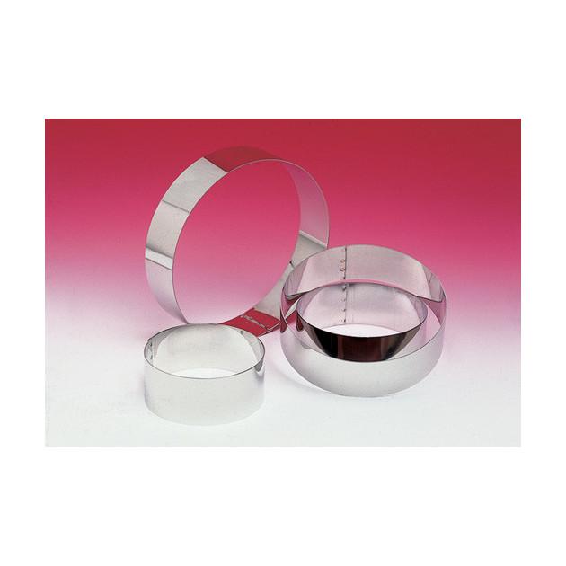 Cercle a Vacherin Inox sans fond differents diametres disponibles