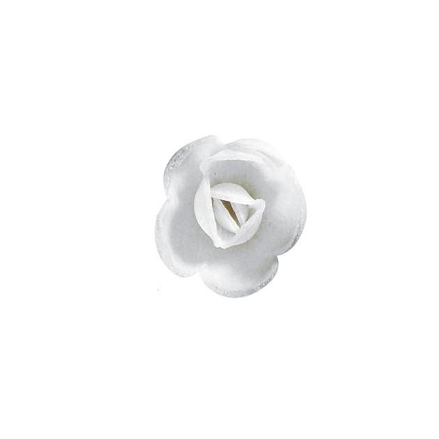 Decoration gâteau fleur azyme bio Petites Roses Blanches 4 cm