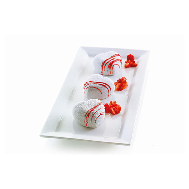 Moule Silicone 8 Cuorinco 6,5 x 6,5 cm Silikomart 3D Design