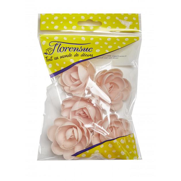 Fleur Azyme Bio Grandes Roses Rose 5 cm x5 Florensuc