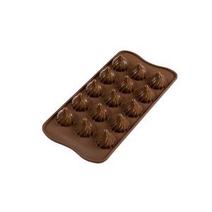 Moule à Chocolat 15 Sphères Torsadées Easy Choc - Silicone Spécial Chocolat