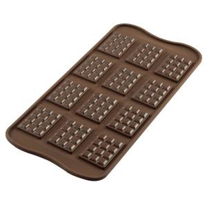 Moule à Chocolat 12 Mini Tablettes Easy Choc - Silicone Spécial Chocolat