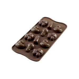 Moule à Chocolat 12 Sujets Bébé Easy Choc - Silicone Spécial Chocolat