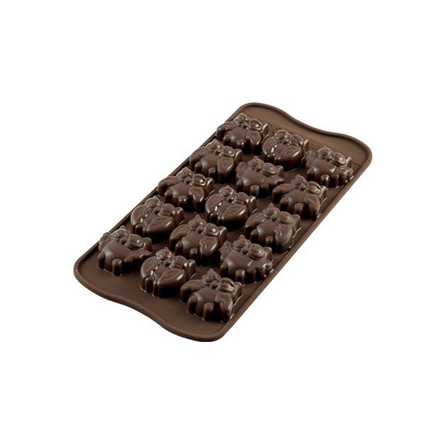 Moule à Chocolat 12 Hiboux Easy Choc - Silicone Spécial Chocolat