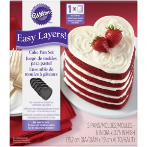 Moules Gâteau à Etages Forme Coeur (x5) Wilton