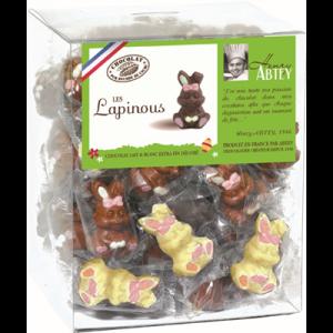 Lapin Décoré Chocolat Lait et Blanc 10g x45