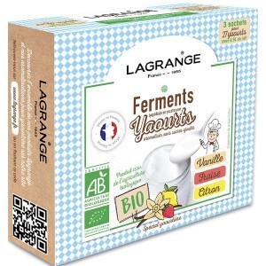 Ferment Lactique Bio 3 Sachets 12g Vanille, Fraise et Citron Lagrange