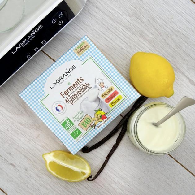 Ferment lactique bio pour recette yaourt vanille avec ferment