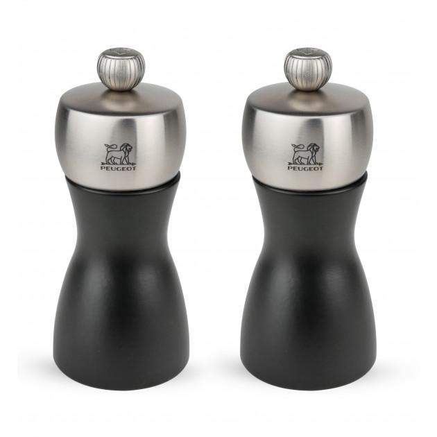 Duo Moulins Fidji 12 cm Noir-Inox Peugeot
