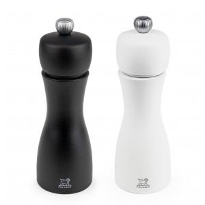 Duo Moulin à Poivre et à Sel Tahiti 15 cm Noir et Blanc Peugeot
